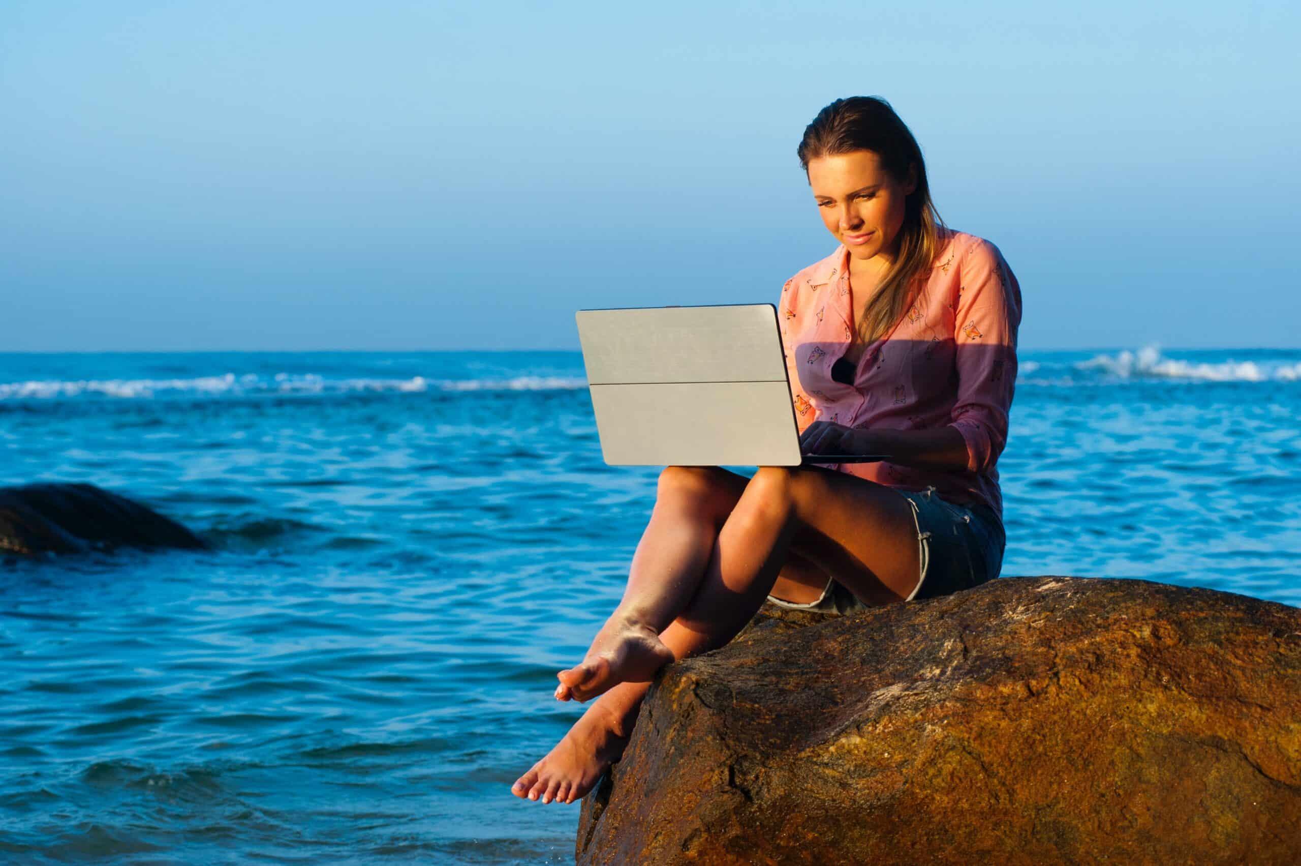 escritório na praia